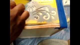 "Ad Chalk Paint Metal Series  ""metal Bread Box Becomes Live Well Box For Vitamins""  Video 6"