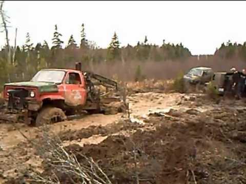 """stuck and towed"" - Swamp Thing tows Chev - major revs"