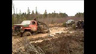 """stuck and towed"" - Swamp Thing tows Chev - major revs"