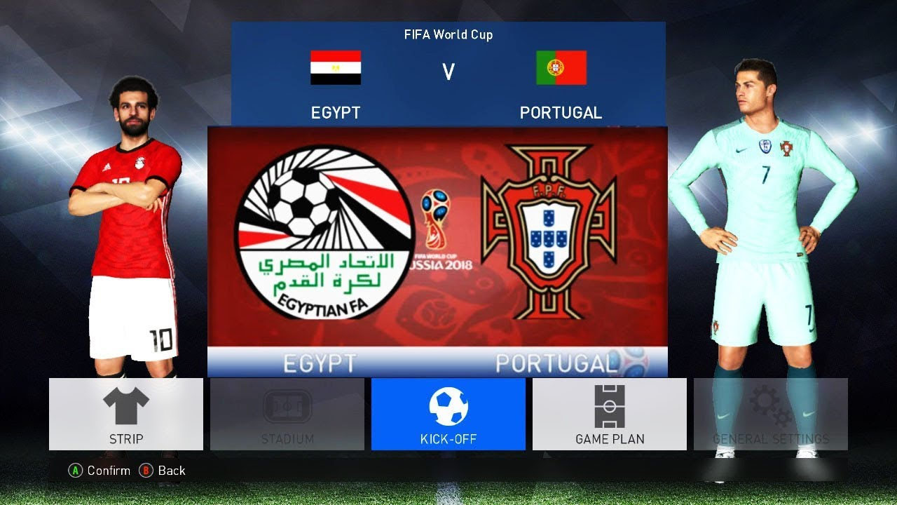 4d807529d Egypt vs Portugal FIFA World Cup 2018 Russia | Full Match | Pes Gameplay PC