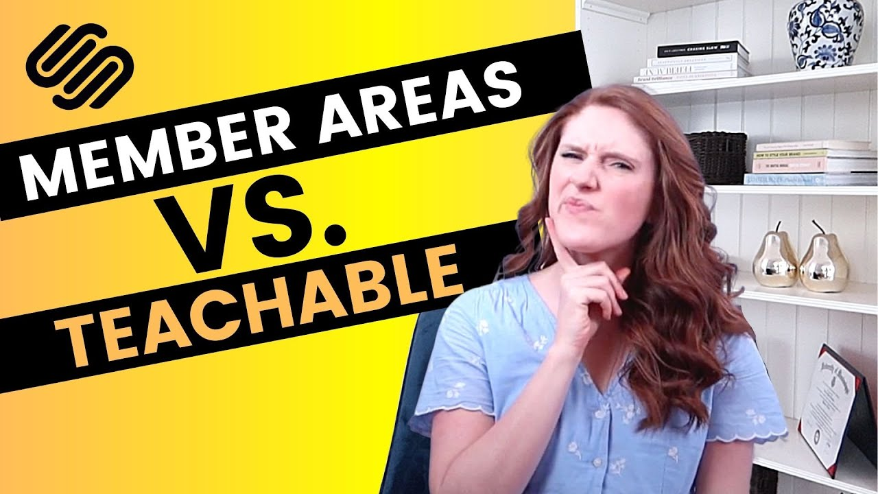 BUILDING A MEMBERSHIP SITE? [Squarespace Member Areas vs. Teachable]