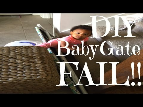 How NOT To Make A Baby Gate I CandaceVlogs