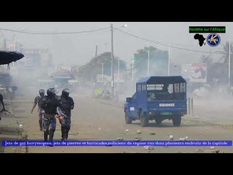 Togo: Barricades, jets de pierres contre gaz lacrymogènes et milices à Lomé