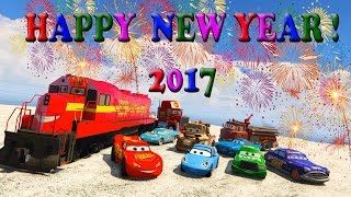 McQueen and Friends go by Train in the new year 2017. Happy new year! Christmas songs for Kids