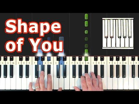 Ed Sheeran - Shape Of You - Piano Tutorial - Sheet Music (Synthesia)