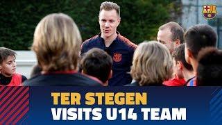 Ter Stegen's advice for Barça's U14 B team