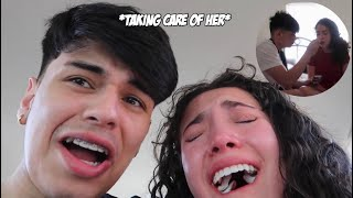 GIRLFRIEND GETS HER WISDOM TEETH REMOVED!! *LOTS OF CRYING*