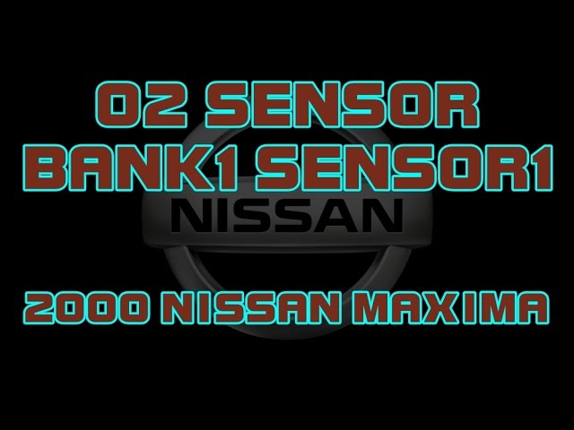 2000 nissan maxima how to change the bank 1 sensor 1 o2 sensor upstream youtube bank 1 sensor 1 o2 sensor upstream
