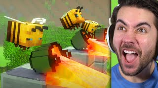 Reacting to the Most Amazing Minecraft Battle!