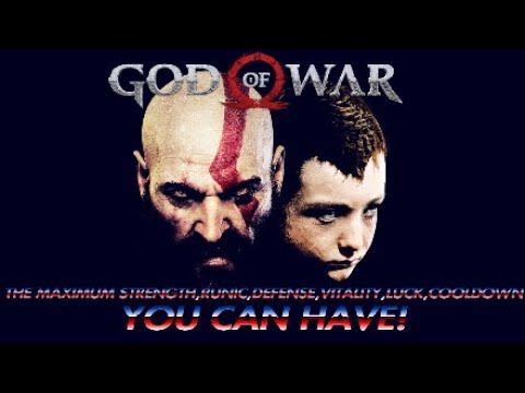 "GOD OF WAR:""THE MAXIMUM""STRENGTH,RUNIC,DEFENSE,VITALITY,LUCK,COOLDOWN""YOU CAN HAVE!"""