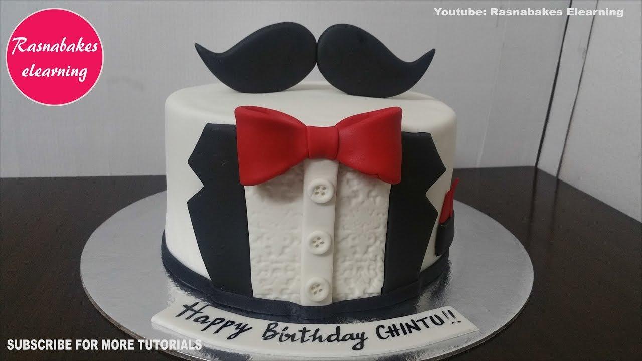 Tuxedo Birthday Cake For Men Design Ideas Decorating Tutorial Video Home Husband Him Dad Boyfriend Youtube