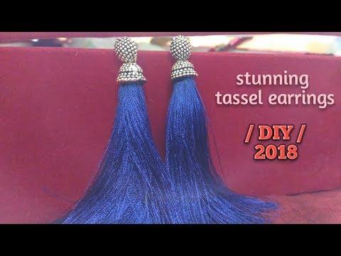How to make Stunning tassel earrings /DIY/tutorial /step by step.