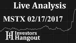 MSTX Stock Live Analysis 02-17-2017