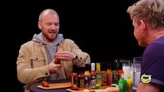 Hot Ones | Gordon Ramsay | Final Dab Reduxx ... Does He Puke???