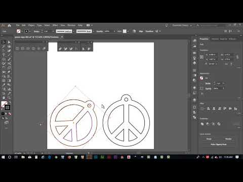 Adobe Illustrator and Laser Engraver Peace Sign Tutorial - Part 3 thumbnail