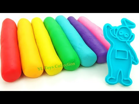 Learn Colors with Play Doh Teletubbies Molds Tinky Winky, Dipsy, Laa Laa and Po