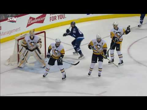 Malkin scores on a breakaway thanks to a sweet feed from Kessel