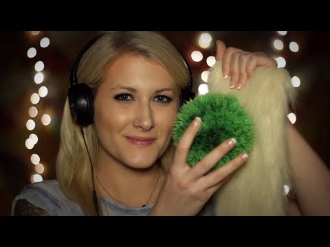 Raw Tingles: Effervescent Tabs, Plastic Grass Ball, Craft Fur - Binaural ASMR - Fizz & Scratching