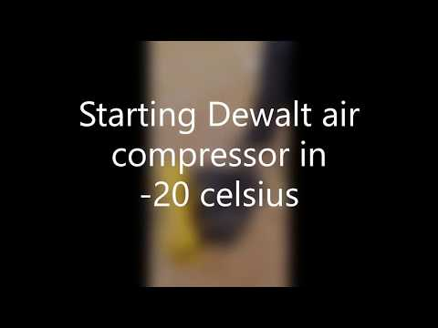 Starting Dewalt Air Compressor in 20c