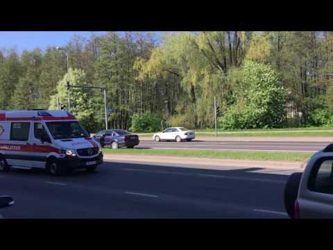 Car on fire in Tallinn.