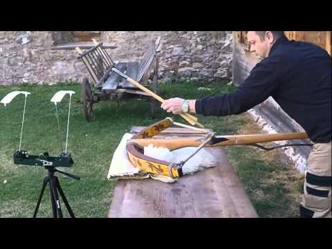 Shooting a Great Horn Composite Crossbow