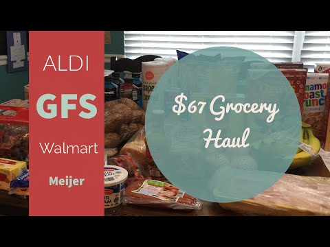 Aldi Haul || $67 For A Family of Four || Meijer Haul With Coupons|| Price Matching at Walmart