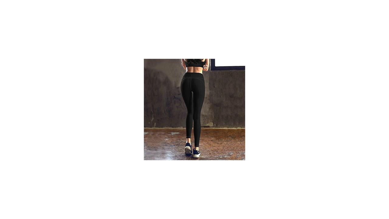 e8d8574c871d2 IUGA High Waist Yoga Pants Inner/Out Pocket Design, Tummy Control, Workout  Running 4.
