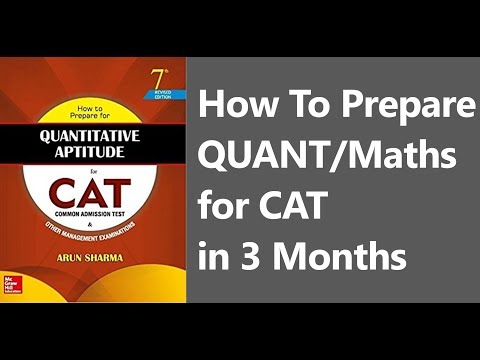 How To Prepare QUANT/Maths for CAT Exam in 3 Months