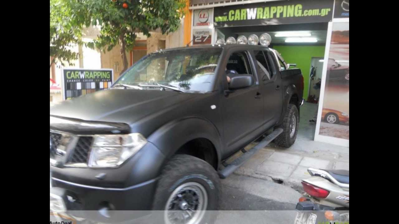 Nissan Navara Wrapping Oracal Black Matte YouTube