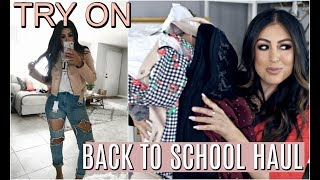 BACK TO SCHOOL HAUL 2017: OUTFIT IDEAS TRY ON