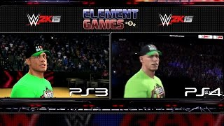WWE 2K15 : John Cena Entrance PS4 vs PS3 Comparison