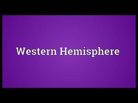 Western Hemisphere Meaning
