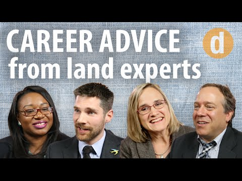 Want to work in land management? Choose a speciality, expert