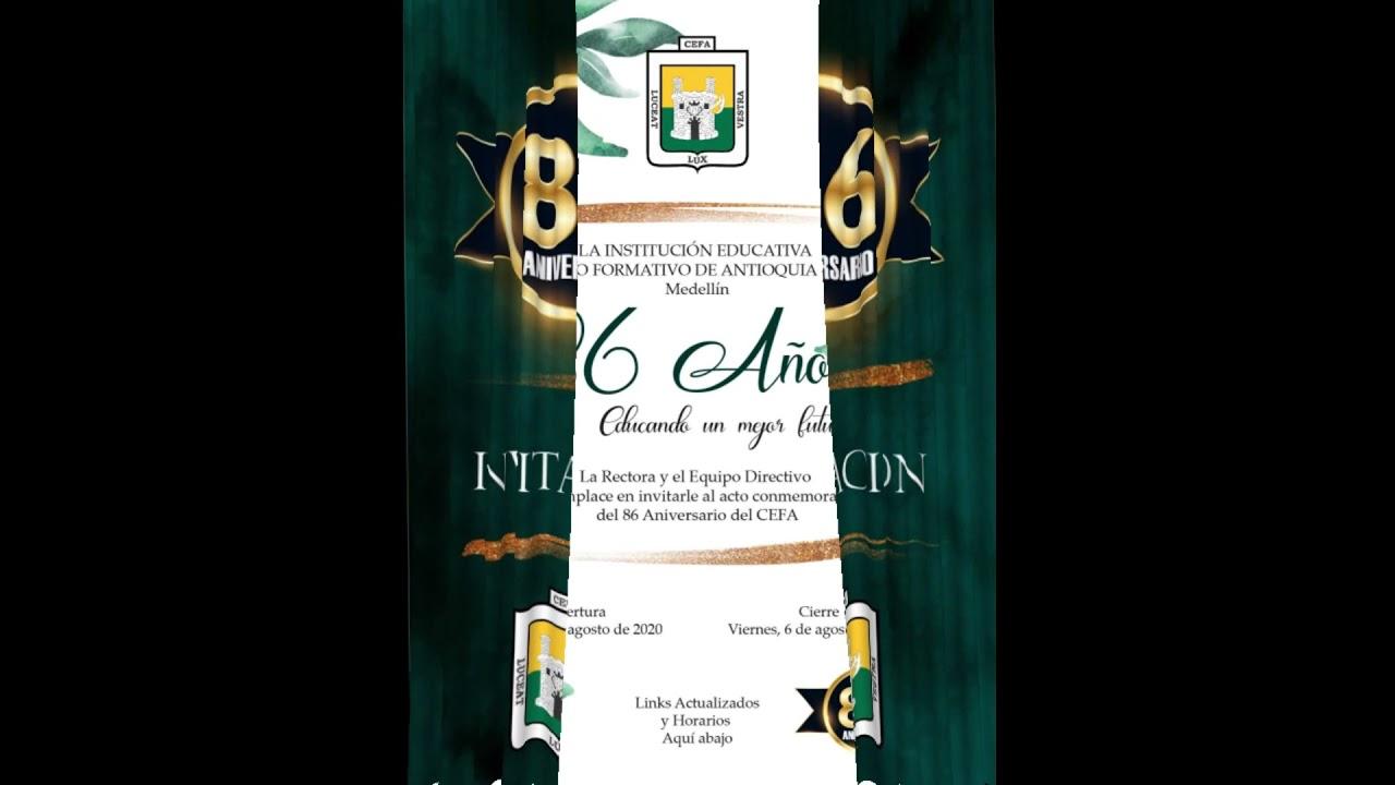 Promocional Invitación Semana Institucional CEFA