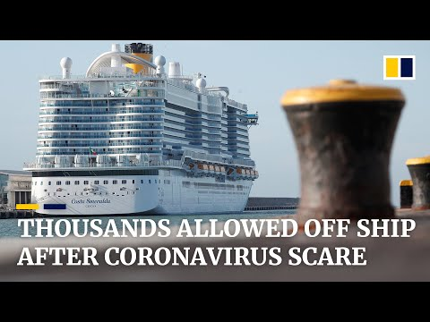 Cruise ship passengers held in Italy free to go after negative coronavirus case