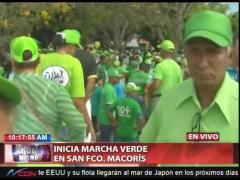 Inicia Marcha Verde en San Francisco de Macorís