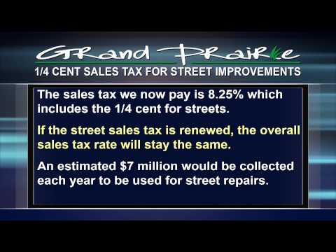 City of Grand Prairie: Street Sales Tax-2013 Election