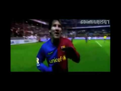 Lionel Messi Top 10 Goals 2008 2009 NEW
