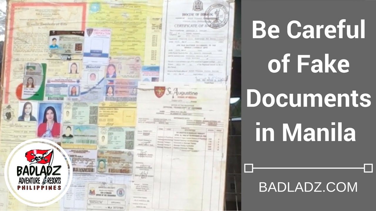Be Careful of Fake Documents in Manila - Fake Documents for
