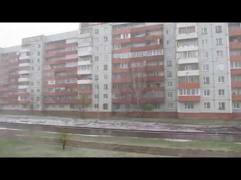 19 мая 2018. В Шарыпово идет снег с дождем
