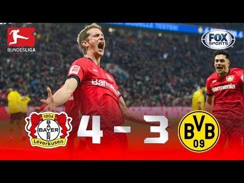 Bayer 04 Leverkusen - Borussia Dortmund [4-3] | GOLES | Jornada 21 | Bundesliga