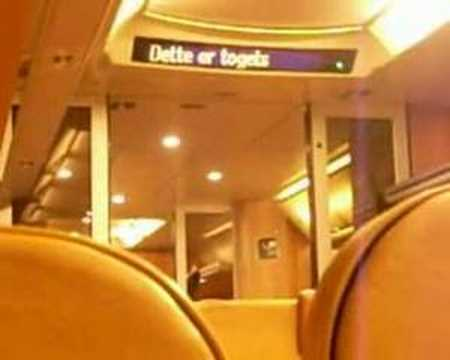 english announcment on norwegian train