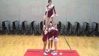 Los Banos High Tiger Cheer Stunts 2010-2011