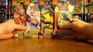 4 Pokemon Roaring Skies Booster Pack Opening