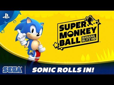 Super Monkey Ball: Banana Blitz HD   Sonic Rolls In!   PS4