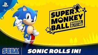 Super Monkey Ball: Banana Blitz HD | Sonic Rolls In! | PS4