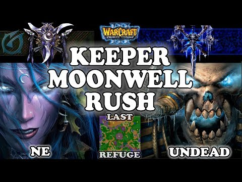 Grubby | Warcraft 3 TFT | 1.29 LIVE | NE v UD on Last Refuge - Keeper Moonwell Rush