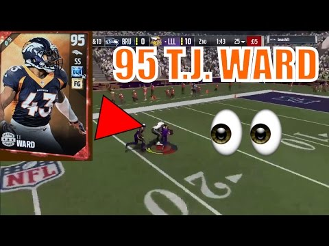 WE GOT THE NEW 95 OVERALL T. J. WARD! MADDEN 17 ULTIMATE TEAM ONLINE GAMEPLAY