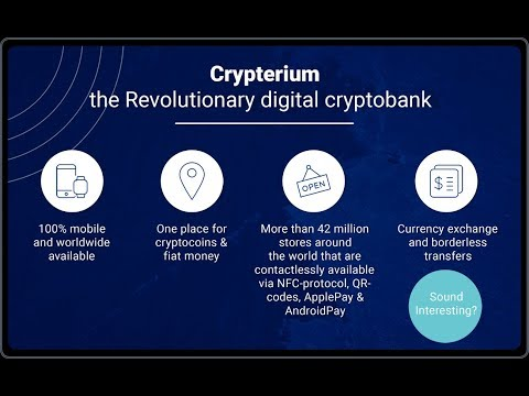 Crypterium World's First Cryptocurrency Blockchain Bank Cryptobank  And The Future Of Banking