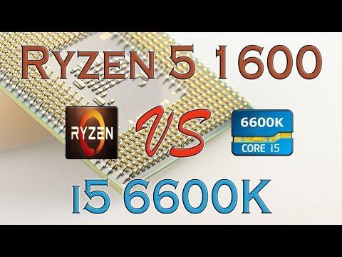 RYZEN 5 1600 Vs I5 6600K - BENCHMARKS / GAMING TESTS REVIEW AND COMPARISON / Ryzen Vs Skylake